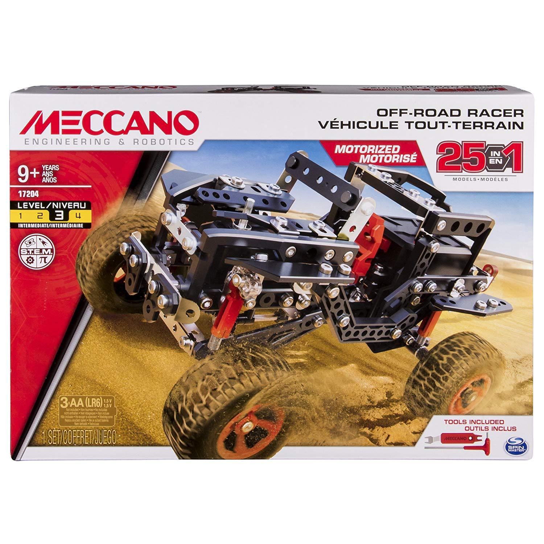 Meccano - Multi Modello da 25 Veicolo Fuoristrada Motorizzato, 406 pezzi, 6037616